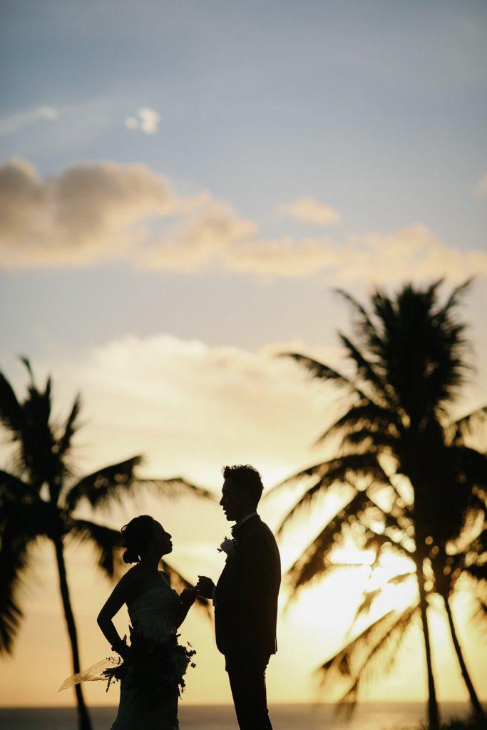 ハワイ ウェディングフォト サンセット