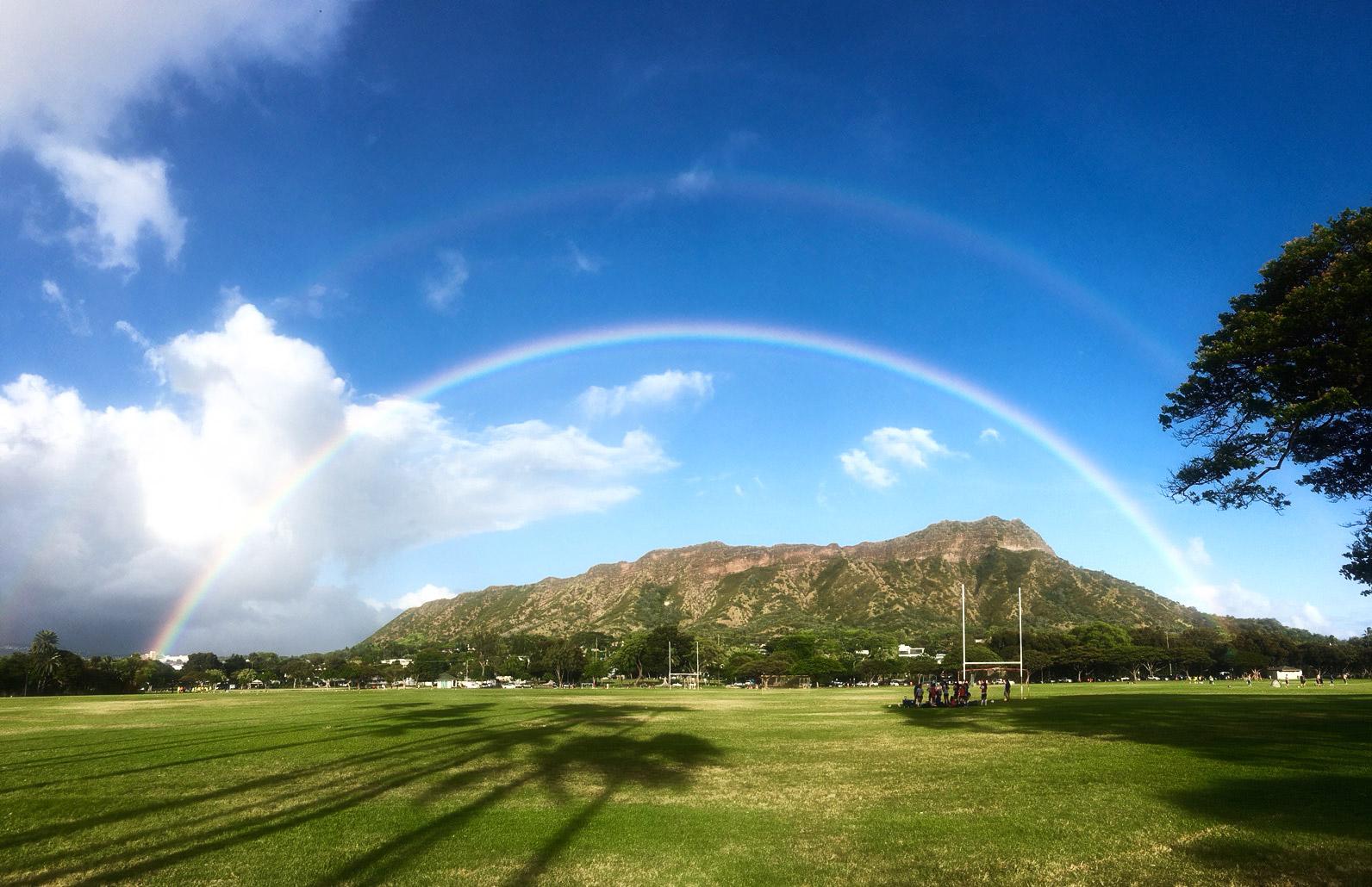 ハワイの虹の写真